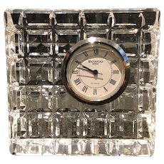 Waterford Crystal Square Desk Clock New Battery Waterford Signed