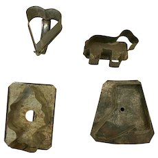 Vintage Metal Cookie Mold  Collection, Sheep, Heart, Cowboy Boot, Christmas Tree