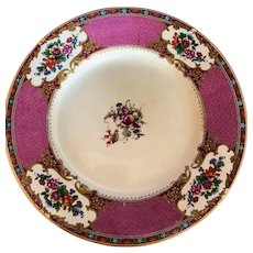 Vtg Royal Venton Ware John Steventon and Sons Plate Floral Peacok Motif