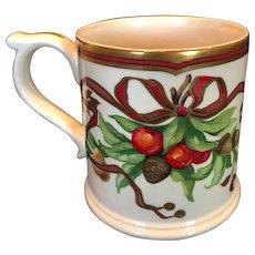 Discontinued Tiffany & Co. Garland China Mug Cups Rare Christmas Holiday