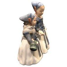Vintage Royal Copenhagen Amager, Girls Shopping, Porcelain, Number 1316