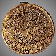 1972 Endymion, Token of Youth, 5th Anniversary Mardi Gras Medallion Original Chain