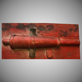Antique 19th Century Wooden Signal Cannon Sand Casting Mold Rare