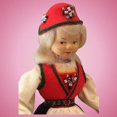 Norwegian Ronnaug Petterssen Cloth Doll