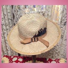 Early Salesman Sample Straw Hat-Too Cute!!