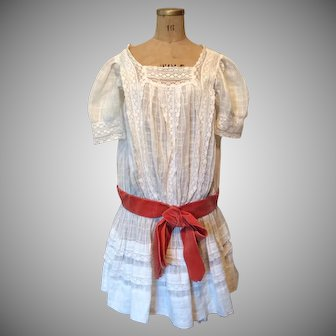 Victorian Toddler Girls Dress-Great for large Bisque