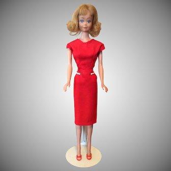 Vintage Midge in Red Dress and Heels