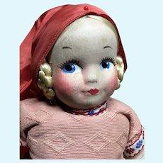 Vintage Cloth Georgene Doll Dutch Girl