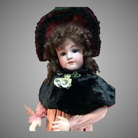 "31"" Heinrich Handwerck /Simon and Halbig Antique Bisque Doll W/Fabulous Costume!"