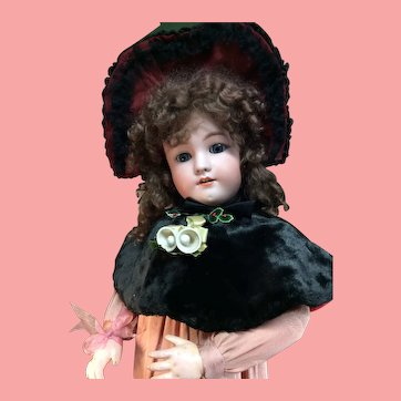 "31"" Heinrich Handwerck /Simon and Halbig Antique Bisque Doll W/Fabulous Costume!"