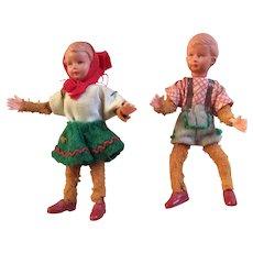 Vintage Caco Dollhouse Dolls Germany