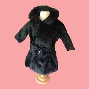 Beautiful Black Mohair Doll Coat