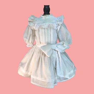 Beautiful White Dress and Undergarments for German or French Bisque Dolls