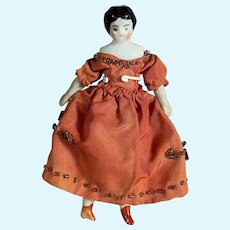 Sweet Tiny German China Head-Great Dress and Undergarments!