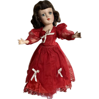 Beautiful Red Gown for a Mary Hoyer Doll