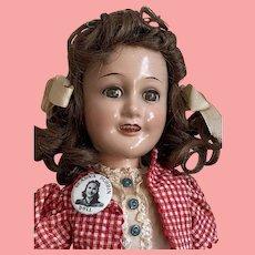"15"" Composition Deanna Durbin by Ideal Novelty Toy Company"
