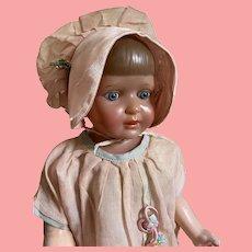 "16"" Madame Hendren Averill  Composition Girl with Celluloid Head"