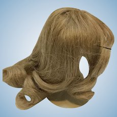 Ash Blonde Human Hair doll wig