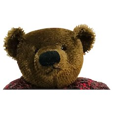 """Hand made old-style brown artist bear with sweater 14"""""""