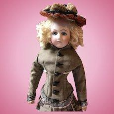 "Jumeau Portrait face French Fashion lady poupee 18"""
