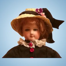 """13"""" tall petite early smiling Bru French Fashion doll poupee"""