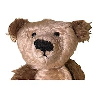 Mohair artist teddy bear two tone gold brown