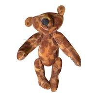 Giraffe print mohair artist bear