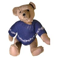 Large gold mohair artist teddy bear - fully jointed