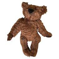Rust brown shaggy mohair artist teddy bear