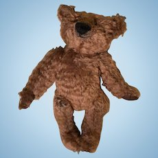 Rust brown shaggy mohair artist teddy bear