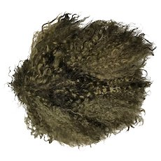 """Hand made black curly mohair doll wig size 8"""""""