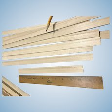 "Dollhouse baseboard  moulding window moulding molding .75"" wide - 10 pieces"