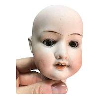 German doll head only brown sleep eyes