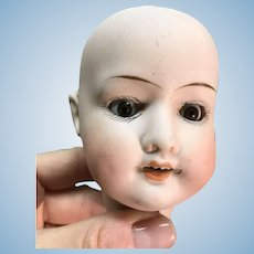 German doll head only brown sleep eyes