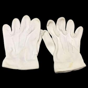 White gloves for large doll