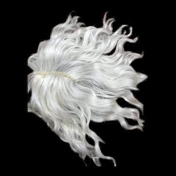 "9"" Light Ash blonde doll wig - Hand Made"