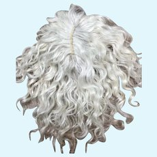 "Size 12"" Light Ash Blonde Mohair wig - Hand Made"