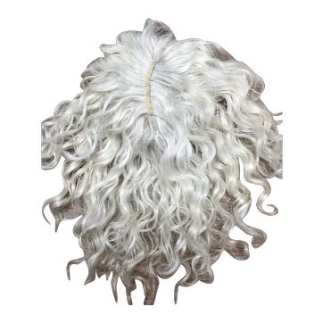 """Size 12"""" Light Ash Blonde Mohair wig - Hand Made"""