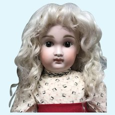"Size 13"" Light Ash Blonde Mohair wig - Hand Made"