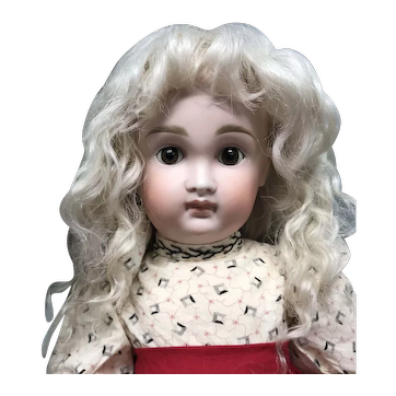 """Size 13"""" Light Ash Blonde Mohair wig - Hand Made"""