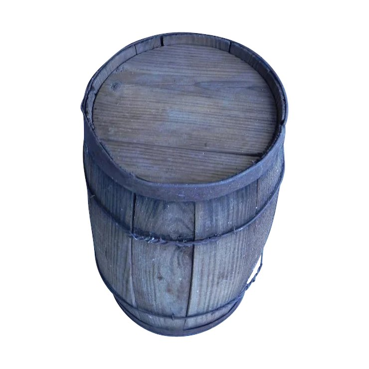 Rustic Wooden Nail Keg From Country Auction SOLD | Ruby Lane