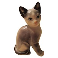 Japanese Cat Figurine MidCentury