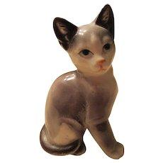 Japanese Cat Figurine MidCentury