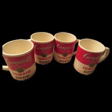 Campbell's Tomato Soup Mugs Set of Four USA Made