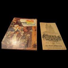 "1930s 1940s ""Maytag Dutch Oven Range Cookbook"" & ""The Waldorf-Astoria Popular Salads"""