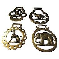 English Brass for Horses: Lion, Elephant, Greyhound, & Partridge