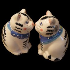Vintage Cat Salt and Pepper Shakers -Coco Dowley Cert. Int. - Red Tag Sale Item