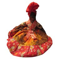Mammy Folk Art Cloth Doll Hand Stitched Face Haiti