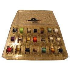 Sewing Machine Metal Bobbin Plastic Case with 21 Bobbins