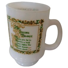 Irish Toasting Pedestal Mug with Verse
